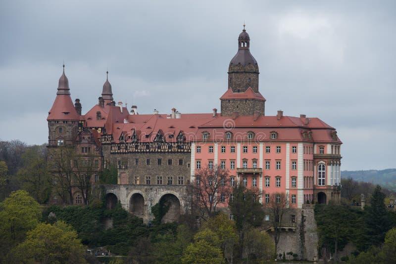 关闭在Ksiaz城堡在Walbrzych附近在波兰 库存照片