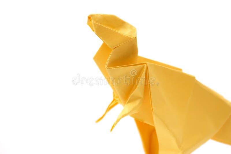 关闭在origami暴龙 库存照片
