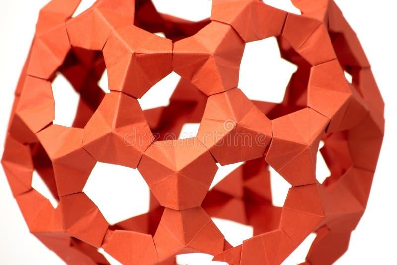 关闭在origami球 免版税图库摄影
