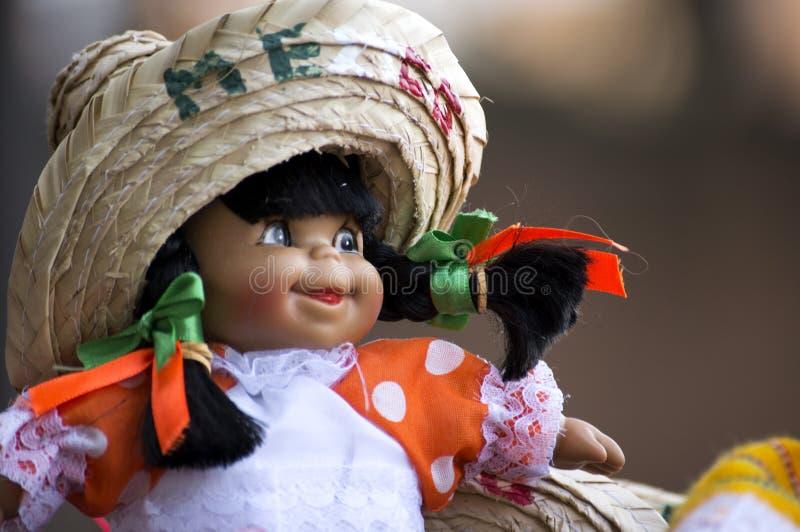 关闭墨西哥纪念品玩偶 库存照片