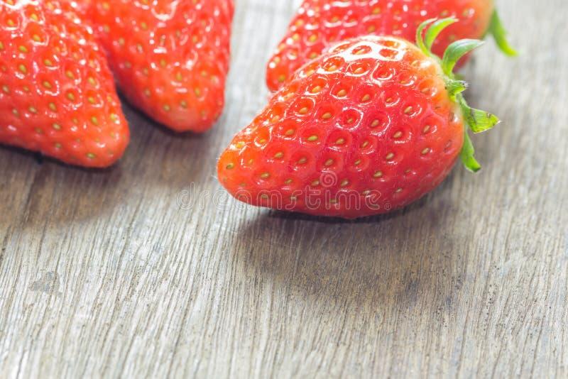 关闭小组新鲜的红色草莓 免版税库存照片
