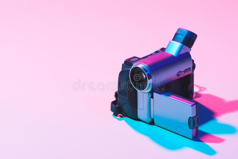 关闭数字式摄象机看法  库存图片