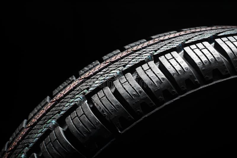 关闭新的冬天轮胎 库存照片