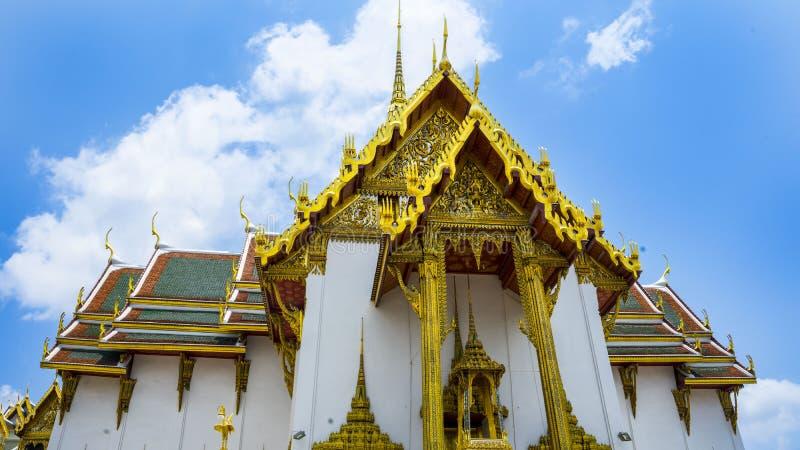 关闭曼谷大皇宫在泰国 免版税库存图片