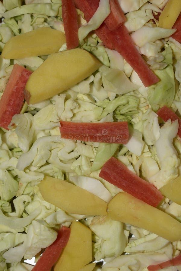 关闭未加工的蔬菜混合物  免版税库存照片