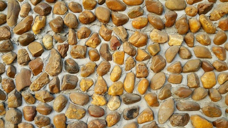 关闭棕色石头纹理 免版税库存照片