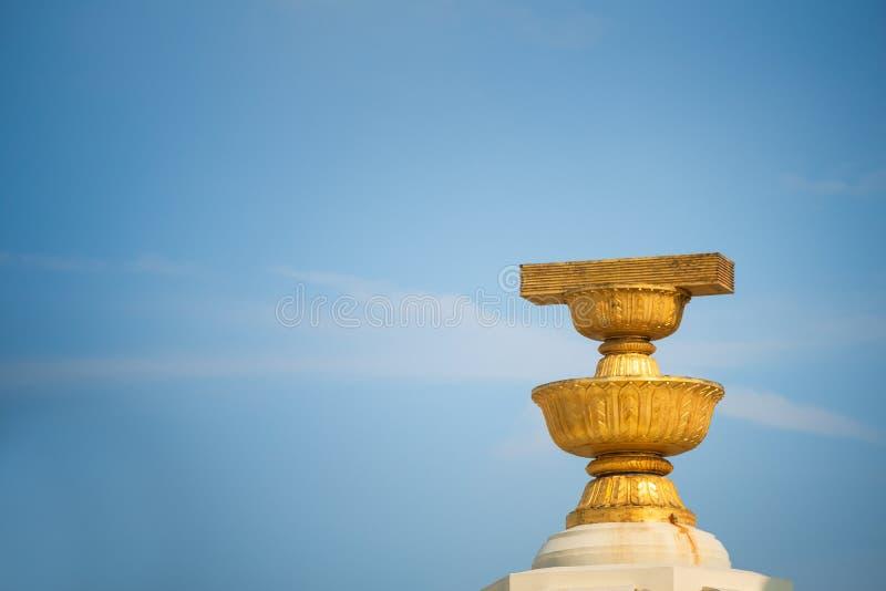 关闭民主纪念碑是历史宪法 免版税库存照片
