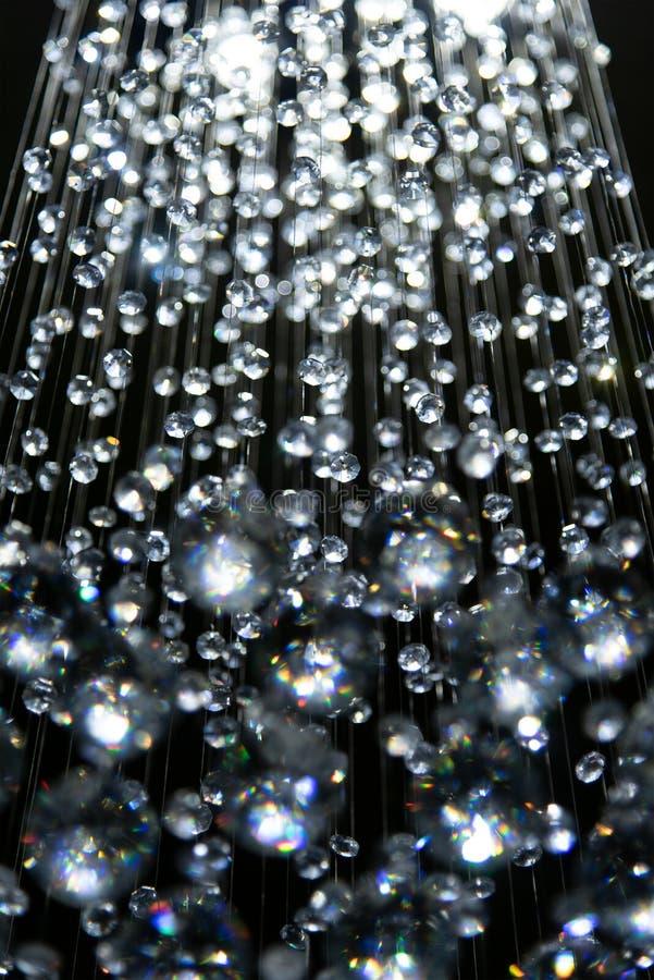关闭水晶灯豪华抽象背景样式 库存图片