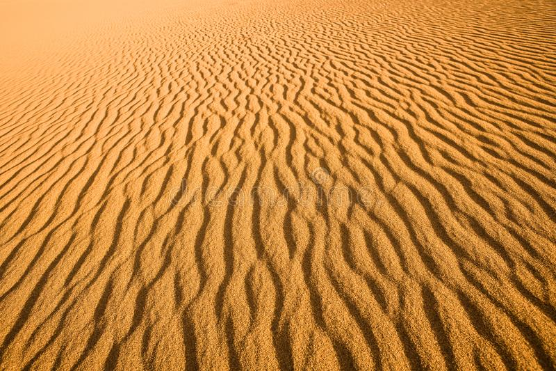 关闭沙丘的纹理 免版税库存图片