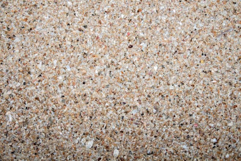 关闭沙子石头石渣用于装饰背景的纹理样式 库存图片