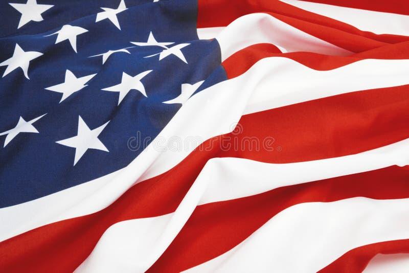关闭演播室被射击美国旗子 被过滤的图象:十字架被处理的葡萄酒作用 库存照片