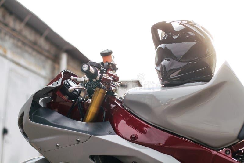 关闭特技摩托车 库存照片