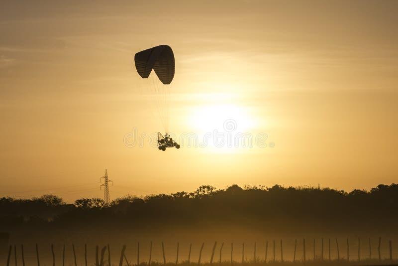 关闭的滑翔伞 库存照片