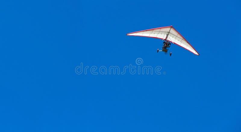 关闭的滑翔机吊 库存图片