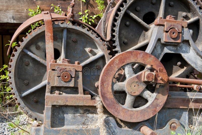 关闭的齿轮蒸培训 免版税库存照片