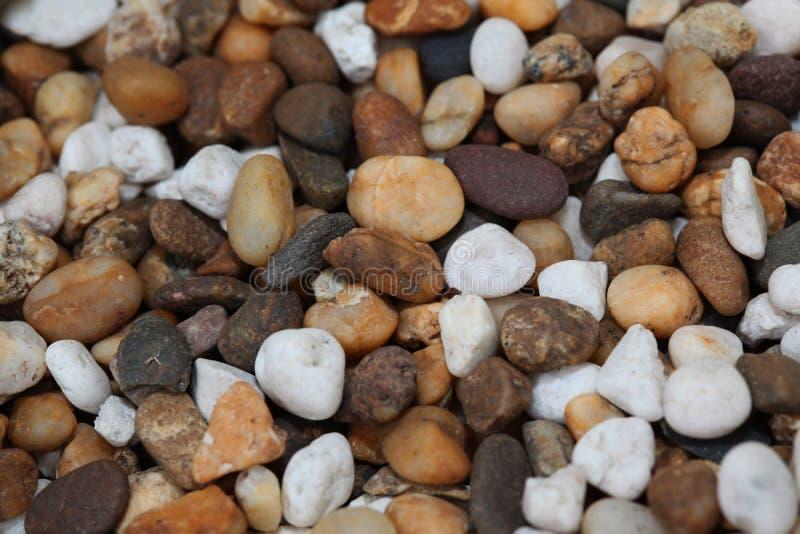 关闭石渣石头小卵石 免版税图库摄影