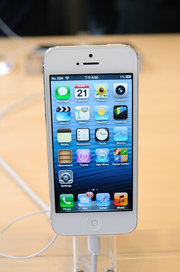 关闭空白iPhone 5 库存图片
