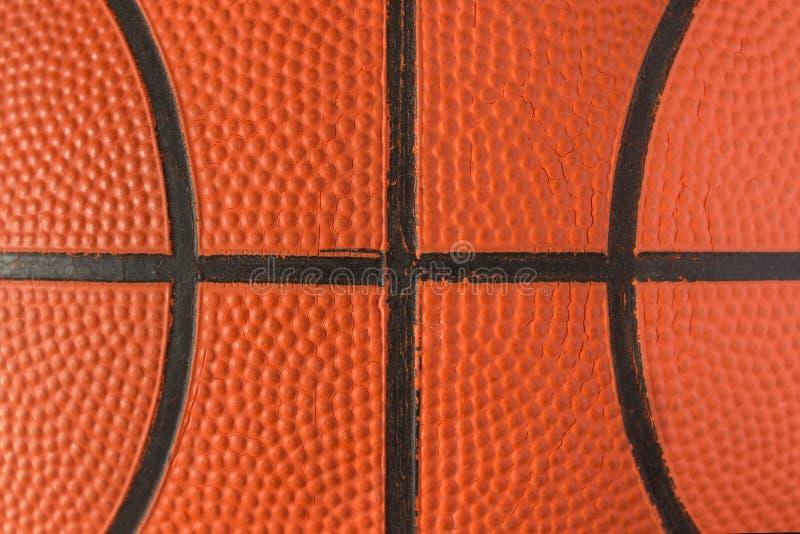 关闭篮球看法背景的 篮球 库存图片