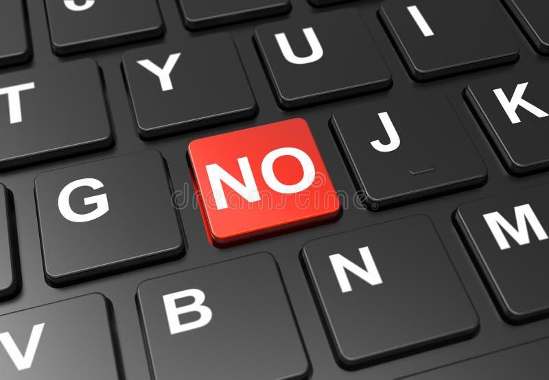 关闭红色按钮,但黑色键盘上没有登录。关闭红色按钮,但黑色键盘上没有登录:3Då›¾ 免版税库存图片