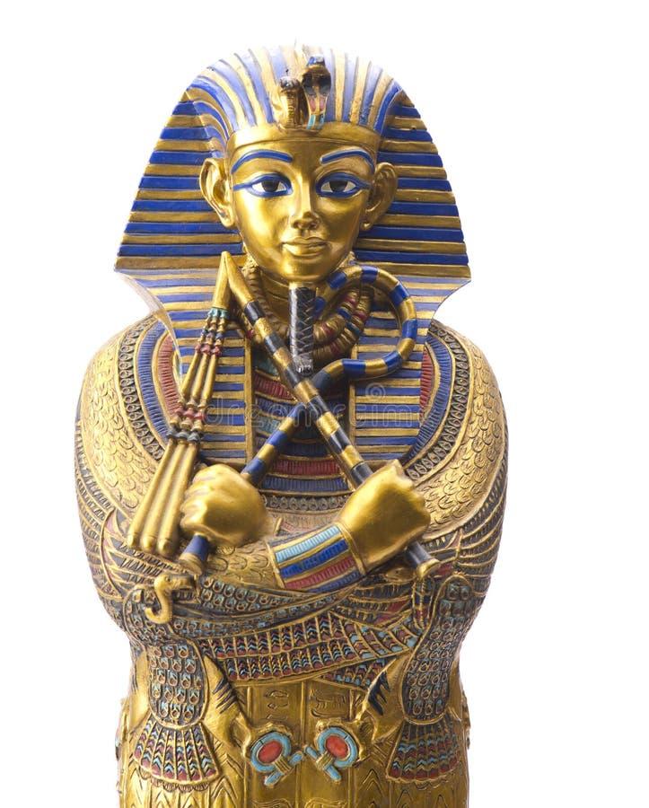 关闭老埃及法老王雕象 免版税库存照片