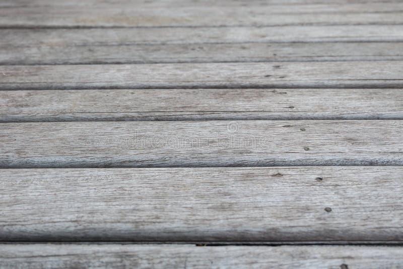 关闭老木板条地板 库存图片