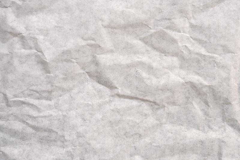 关闭老被弄皱的白皮书纹理和背景 库存图片