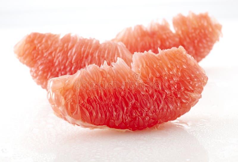 关闭葡萄柚黏浆状物质 免版税库存图片