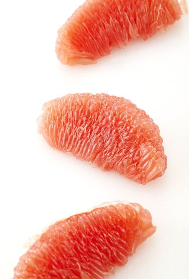 关闭葡萄柚黏浆状物质 库存图片