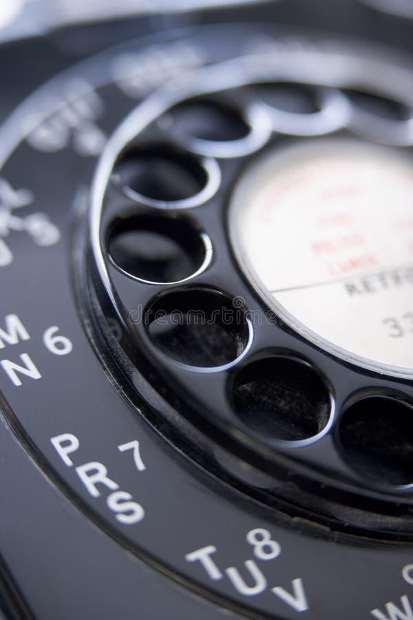 关闭被塑造的老电话  库存照片