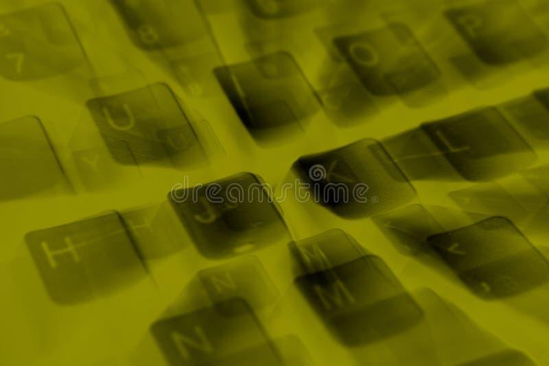 关闭计算机键盘的详细资料 库存照片