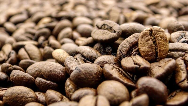 关闭许多烤咖啡豆 免版税库存照片