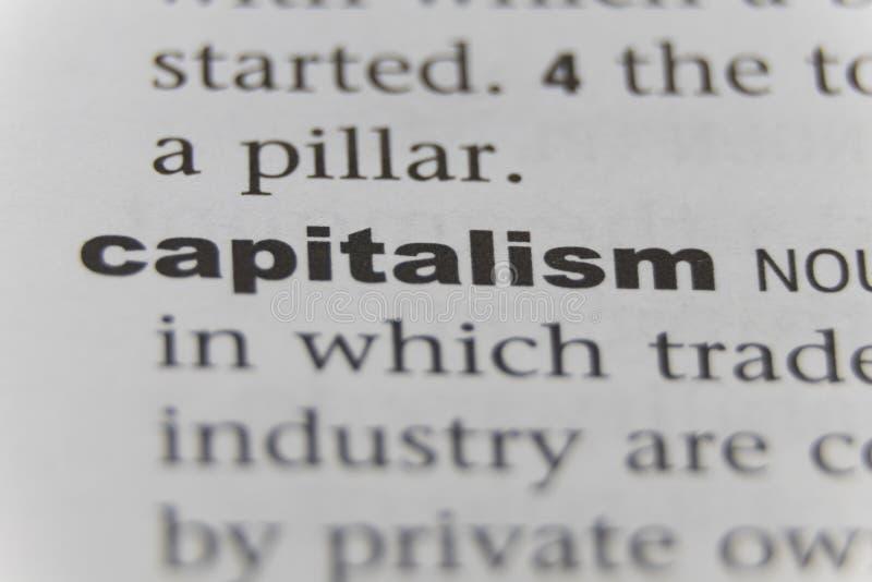 关闭词资本主义 免版税库存照片