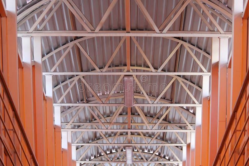 关闭金属桥梁细节的建筑 库存照片