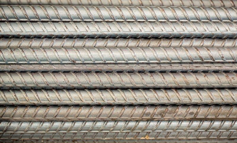 关闭铁棍在建造场所 库存图片