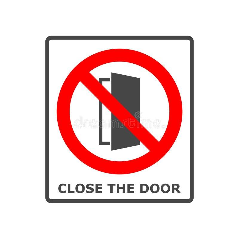 关闭门标志,保留这个门被关闭的象 向量例证