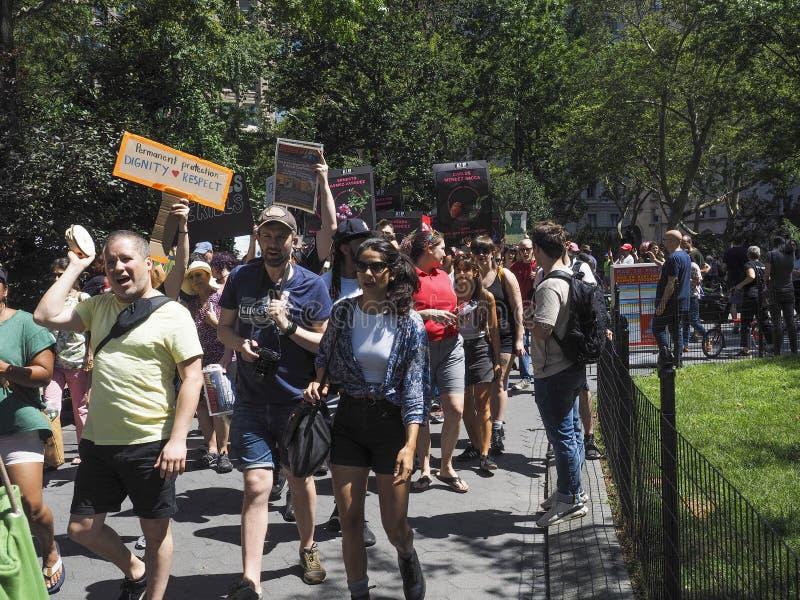 关闭阵营抗议 库存图片