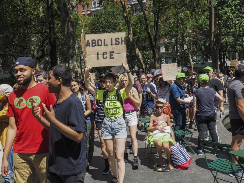 关闭阵营抗议 免版税库存图片