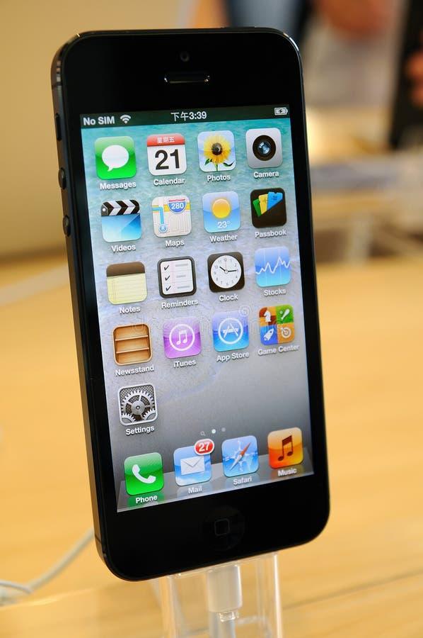关闭黑色iPhone 5 图库摄影