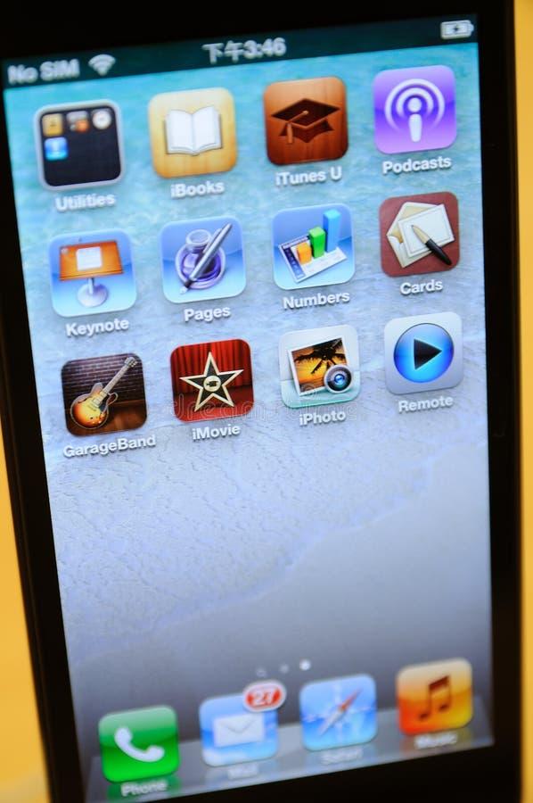关闭黑色iPhone 5 库存图片