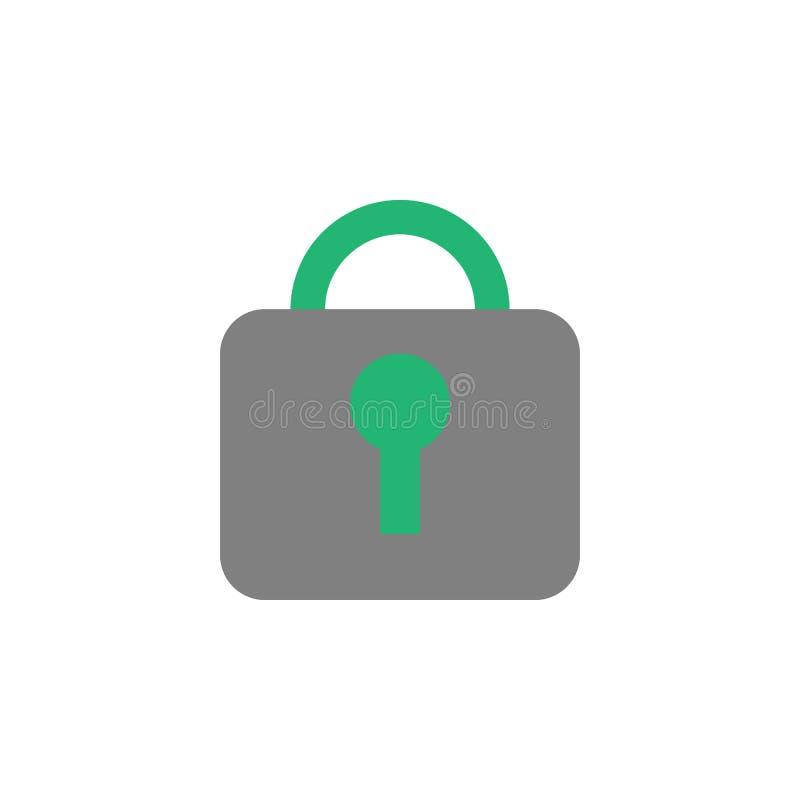 关闭,锁象 网络和安全象的元素流动概念和网应用程序的 详述的闭合,锁象可以使用为 库存例证