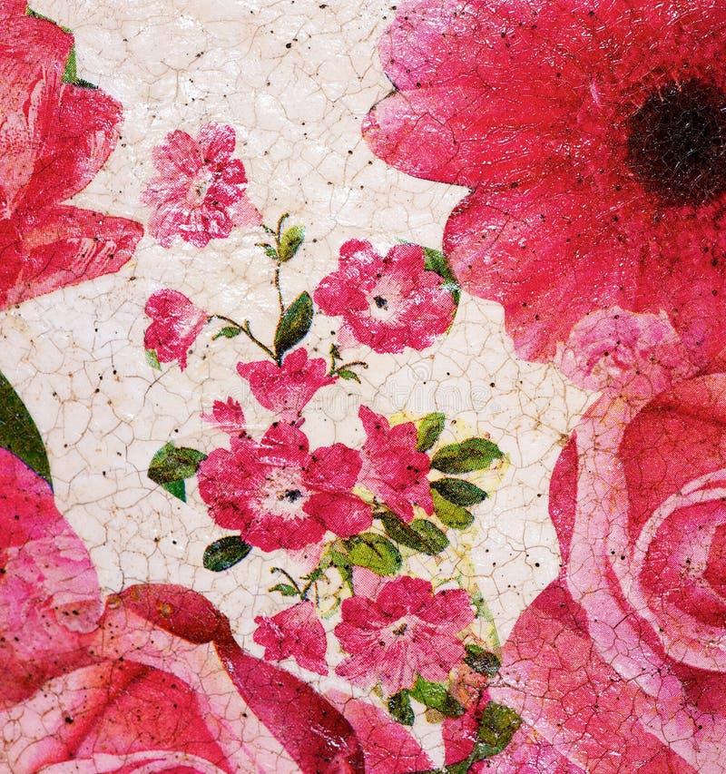 被绘的花卉样式 库存图片