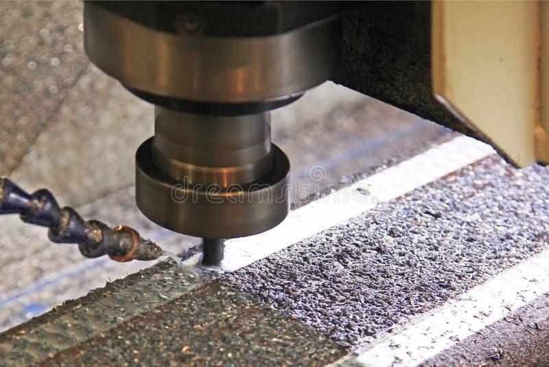 关闭CNC机器在工作 免版税库存图片