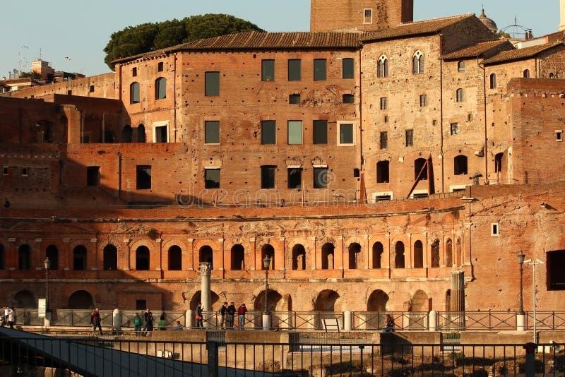 关闭Trajan的市场 免版税图库摄影
