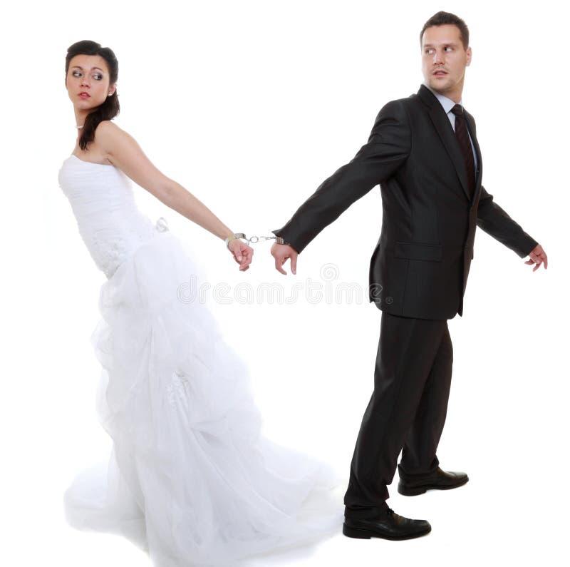 关系在离婚危机的概念夫妇 免版税图库摄影