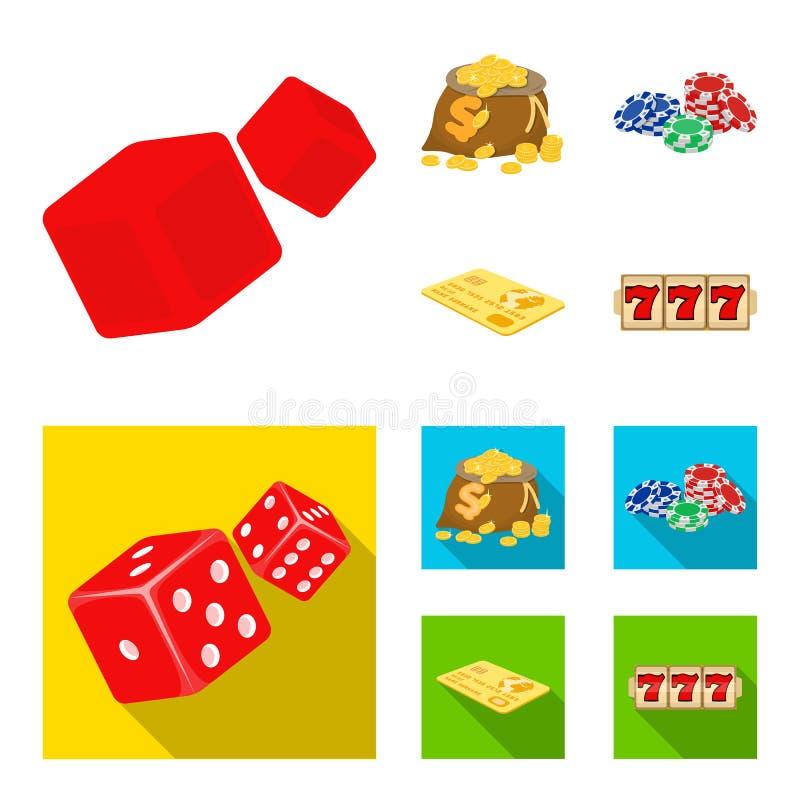 兴奋、休闲、爱好和其他网象在动画片,平的样式 赌博娱乐场,机关,娱乐,在集合的象 库存例证