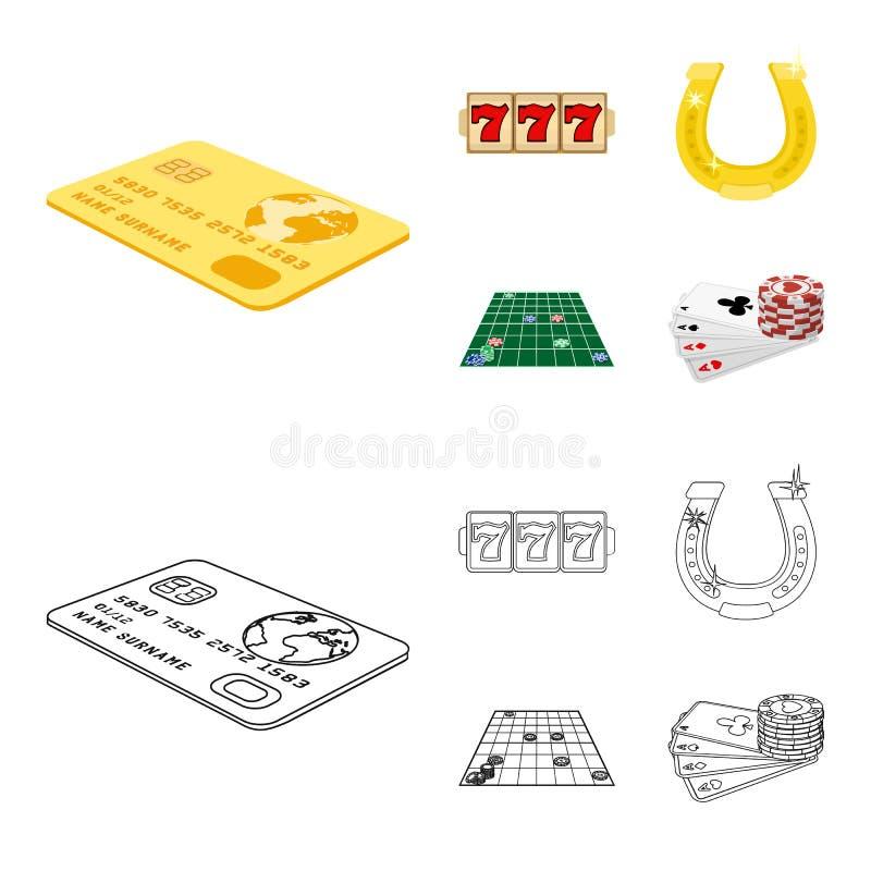 兴奋、休闲、爱好和其他网象在动画片,概述样式 赌博娱乐场,娱乐,机关象 皇族释放例证