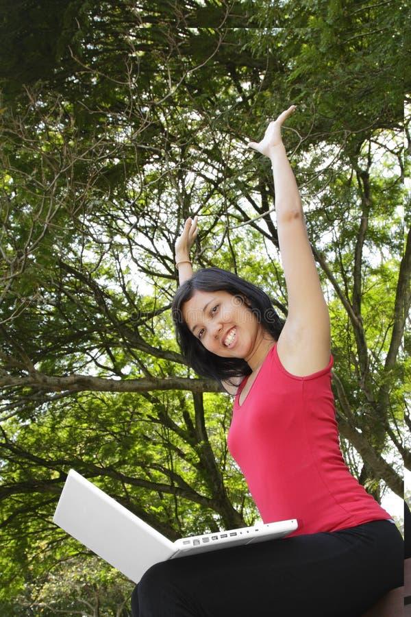 兴奋妇女 免版税库存图片
