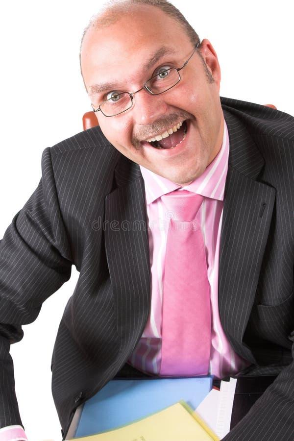 兴奋微笑 免版税库存图片