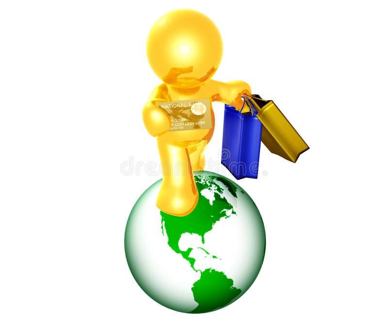 兴奋购物 向量例证