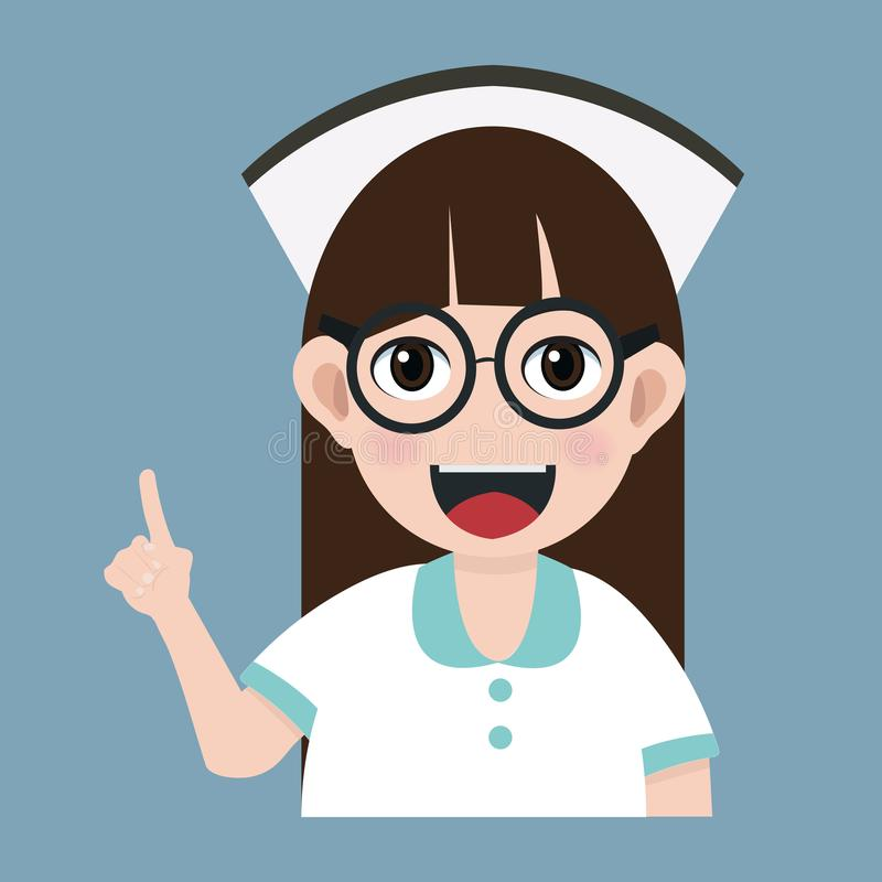 护士卡通_兴高采烈的护士漫画人物.
